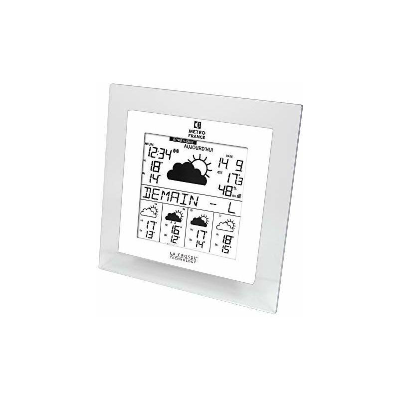 LA CROSSE TECHNOLOGY WD9542 Stazione Meteo France J+4 / Sveglia, Colore: Trasparente/Bianco -