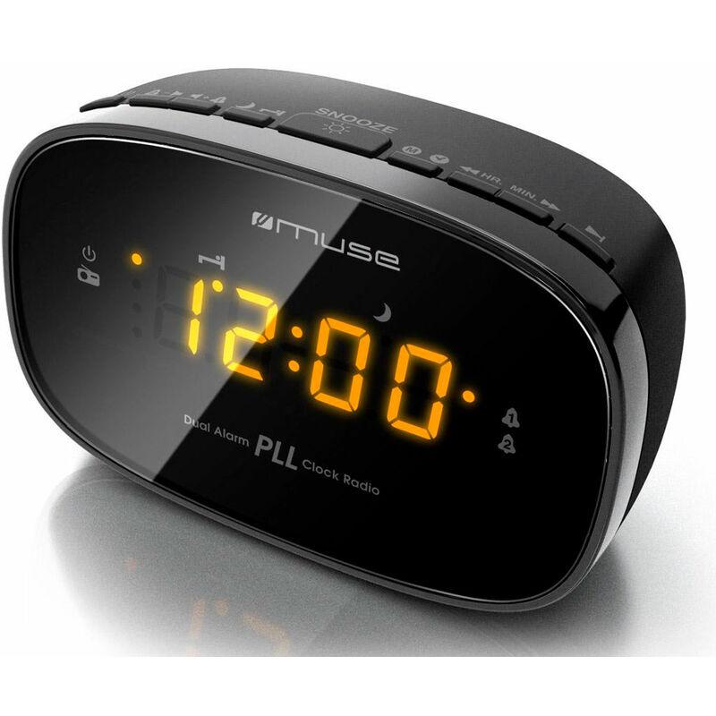 Muse m-150 cr nero radio analogica da tavolo fm snooze autosearch -