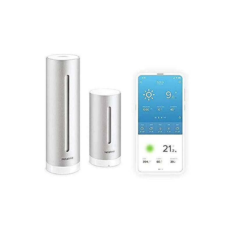 Netatmo NWS01-EC Stazione Meteo con Sensore Esterno Wireless, Compatibile con Amazon Alexa e Apple HomeKit