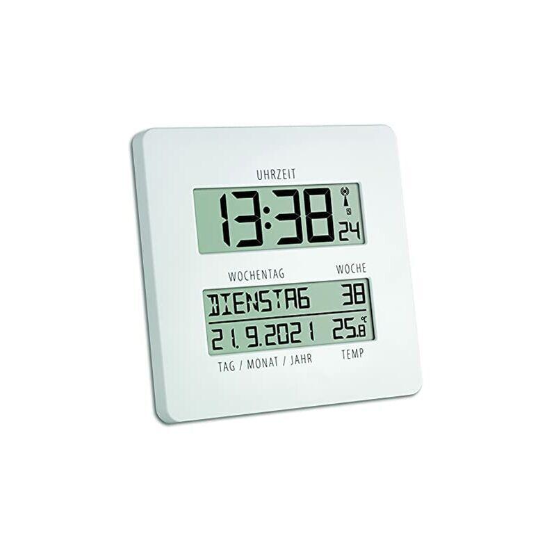 TFA Dostmann - '''Linea Del Tempo'' Dostmann Tfa 60.4509.02 Orologio Radio Controllato Con Temperatura, bianco'