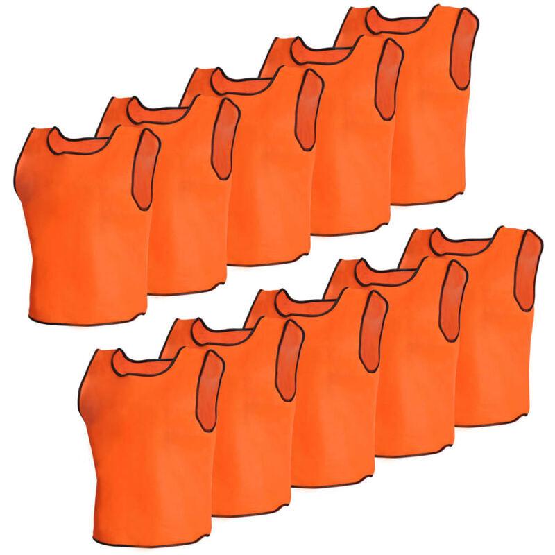 VIDAXL - Canotta Sport Arancione Junior 10 pz
