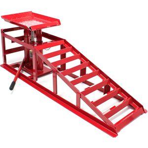 Wiltec - Rampa di sollevamento con cric idraulico 2000kg altezza regolabile Larghezza ruota max 225 mm