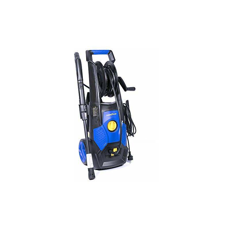 Goodyear Idropulitrice ad alta pressione 1800 W, 140 bar, 360 l/h, kit schiumogeno, tubo ad alta pressione (5 m), lancia a getto regolabile, per Auto, Casa,
