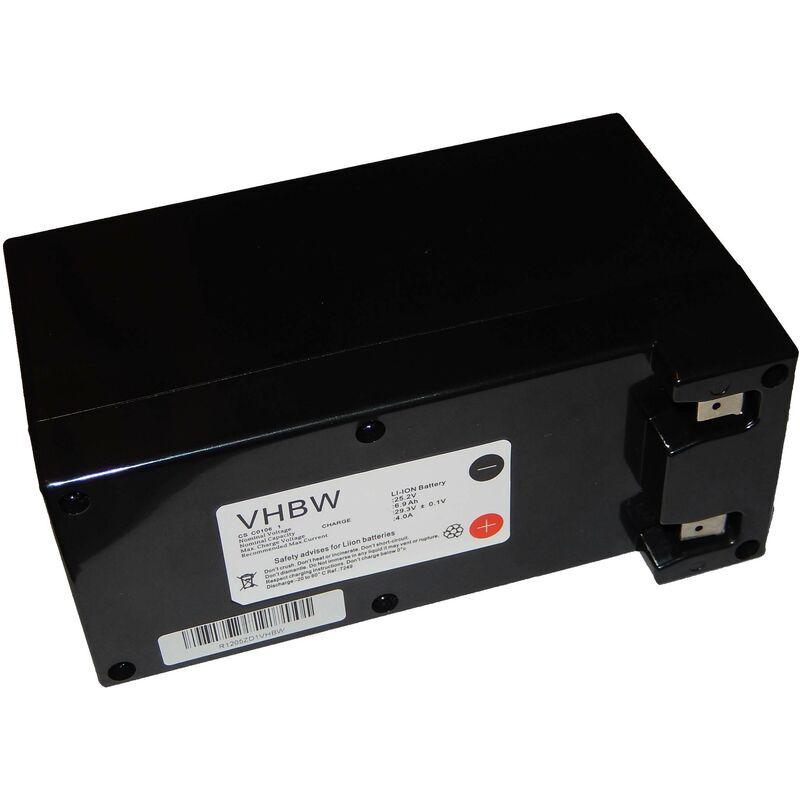 vhbw batteria per robot aspirapolvere e tagliaerba ambrogio l300 elite 4b, l400, l400 carbone, l50 sostituisce zucchetti cs-c0106-1 6900mah (25.2v) - vhbw
