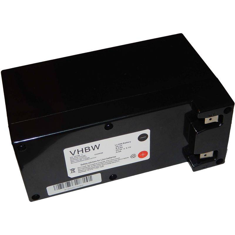 vhbw batteria per robot aspirapolvere e tagliaerba ambrogio l50, l75, l100, basic, deluxe, evolution sostituisce zucchetti cs-c0106-1 6900mah (25.2v)