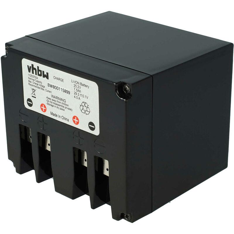 vhbw li-ion batteria 7500mah (25.2v) para tagliaerba robot ambrogio l200 elite retrò, l200 evolution, l200r, retrò - vhbw