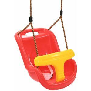 VIDAXL Altalena per Bambini con Cintura di Sicurezza in PP Rossa - VIDAXL