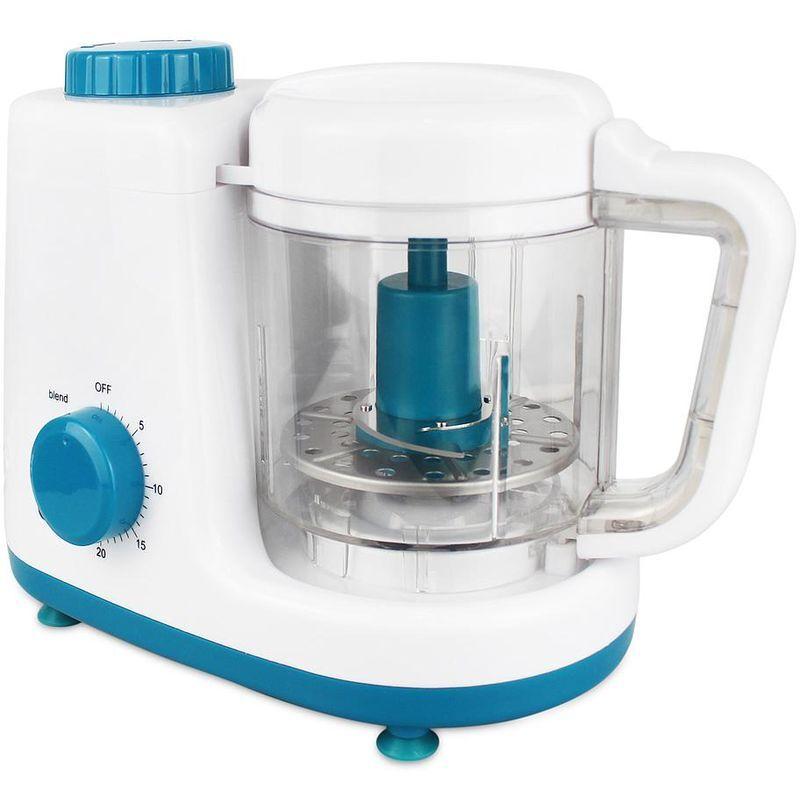 domaier elettrodomestico per preparazione cibo bambini, vaporiera e elettrodomestico per preparazione cibo bambini, bianco/blu, funzione: vapore e frullatore