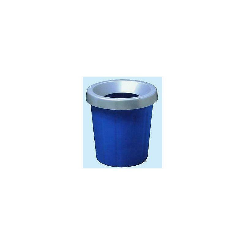 ics cestino gettacarte con fermasacco blu - ics