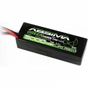 Absima Batteria ricaricabile LiPo 11.1 V 5000 mAh Numero di celle: 3 50 C Box Hardcase Sistema a spina a T