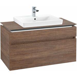 VILLEROY UND BOCH AG Villeroy & Boch Legato Vanity unit B125L6, 1000x550x500mm, centro lavabo, illuminazione a LED, colorazione: Rovere di Santana - B125L6E1 - VILLEROY