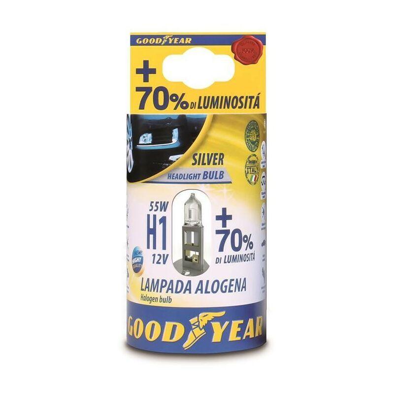 Goodyear LAMPADA ALOGENA 12V H1 55 W + 70 % LUMINOSITA' -