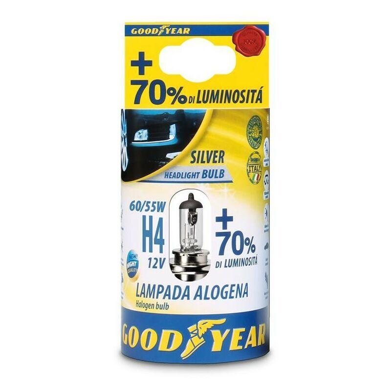 Goodyear Lampada Alogena 12V H4 60/55 W + 70 % Luminosita'