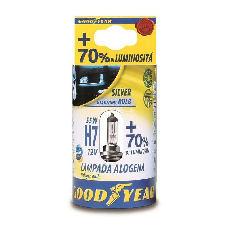 Goodyear LAMPADA ALOGENA 12V H7 55 W + 70 % LUMINOSITA' -