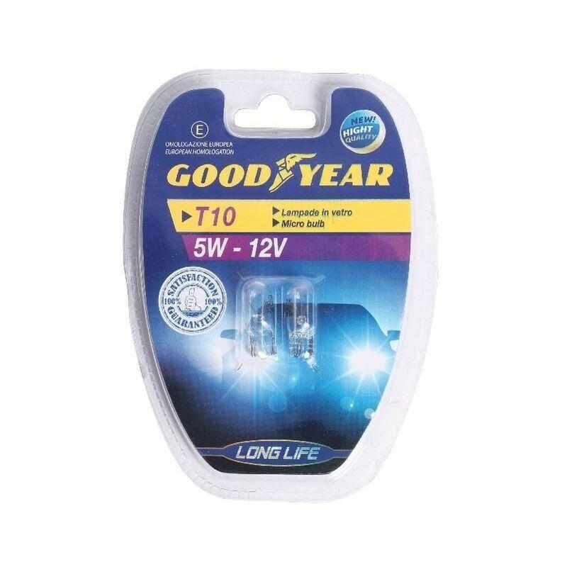 Goodyear LAMPADINE MICRO 12V 5 W T10 2 PZ -