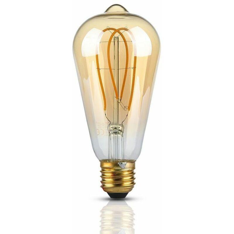 V-TAC Lampadina LED V-TAC E27 5W ST64 Filamento Ambrato 2200K