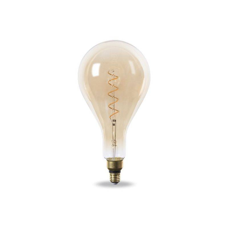 Nova Line - Lampadina Led Decorativa Vintage a Filamento A160 E27 4W Bianco Caldo 2200K