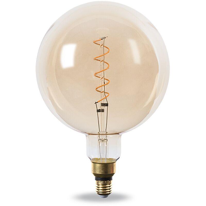 NOVA LINE Lampadina Led Decorativa Vintage a Filamento G200 E27 4W Bianco Caldo 2200K