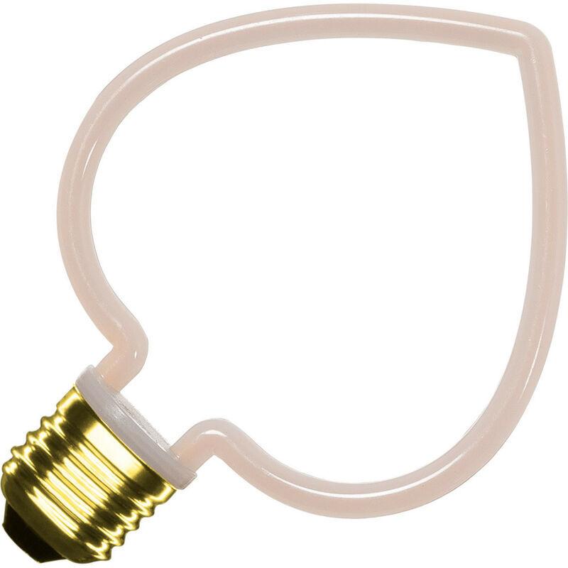 Ledkia - Lampadina LED E27 a Filamento Neon Heart 4W Bianco Caldo 2200 - 2700K