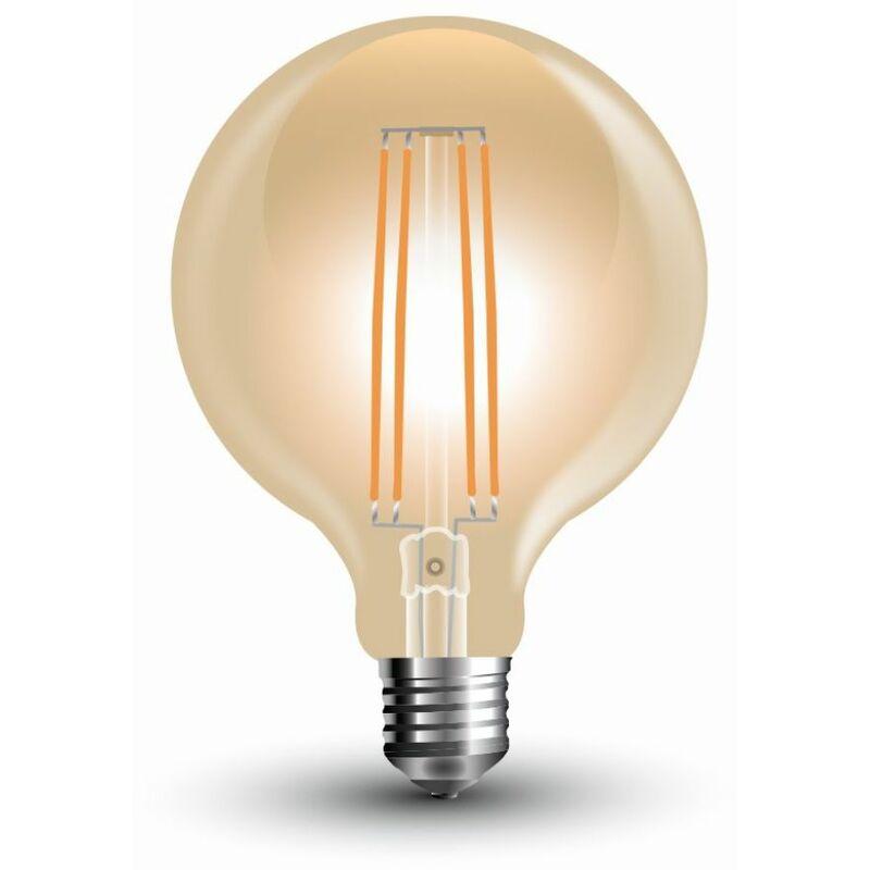 V-TAC Lampadina LED V-TAC E27 7W G95 Filamento Ambrato 2200K