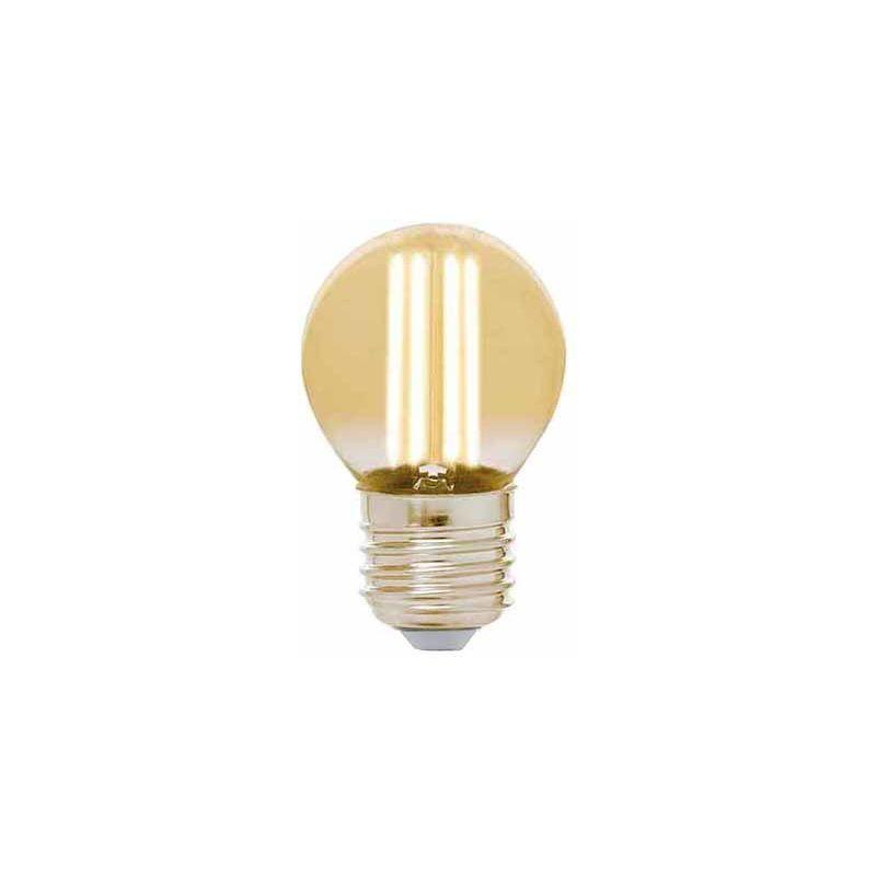 LEDLEDITALIA Lampadina Led Vintage a Filamento G45 E27 4W Bianco Caldo 2200K
