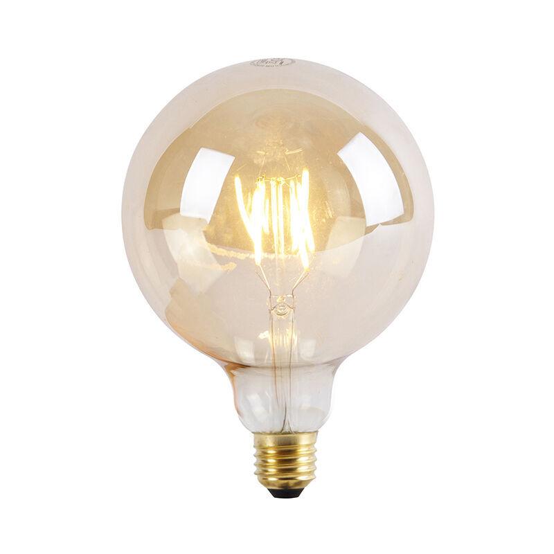 LUEDD Lampadina LED E27 G125 Goldline 550LM 2200K dimm 3 livelli