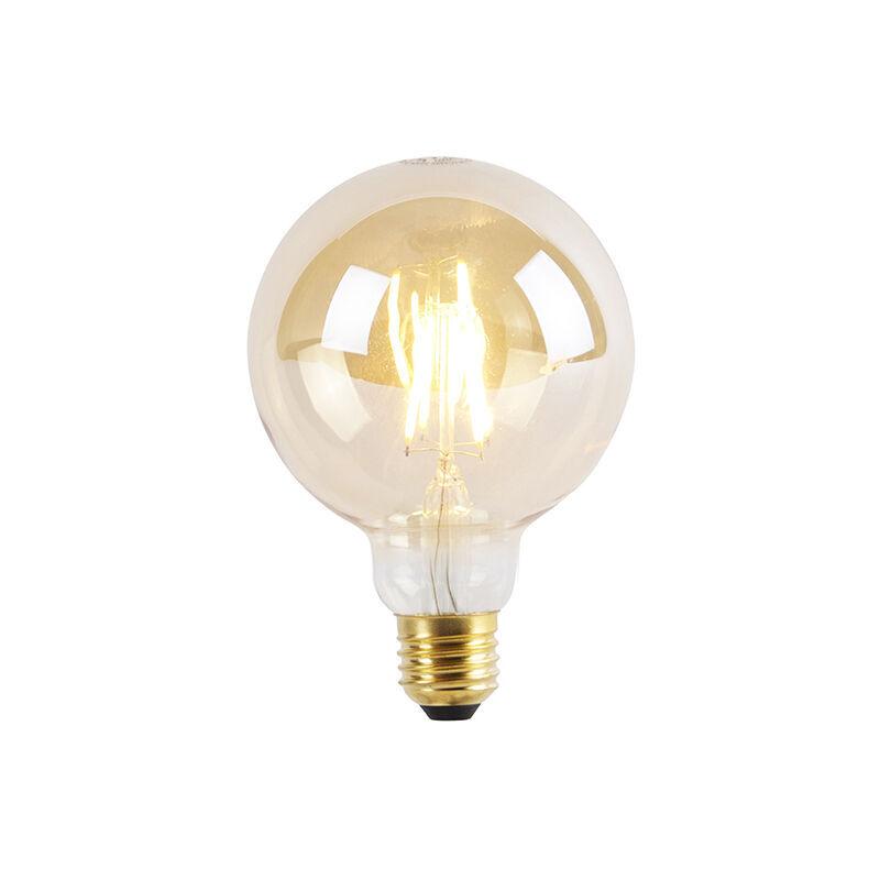LUEDD Lampadina LED E27 dimmerabile a 3 livelli G95 Goldline 5W 360lm 2200K