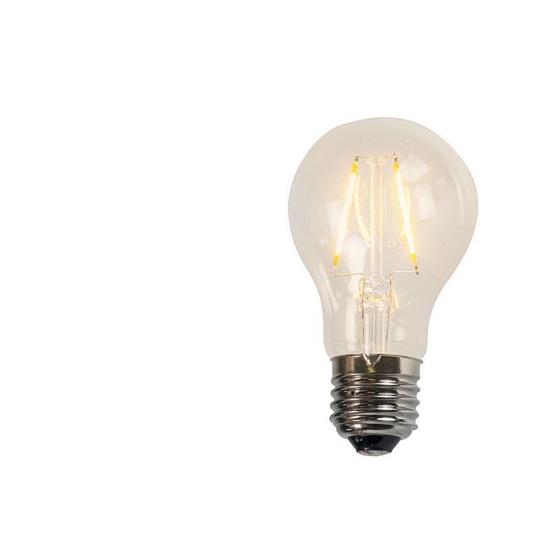 LUEDD Lampadina LED filamento A60 2W 2200K trasparente