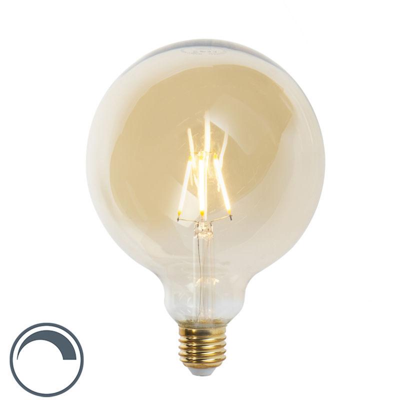 LUEDD Lampadina a filamento LED dimmerabile E27 G125 360lm 2200K - GOLDLINE