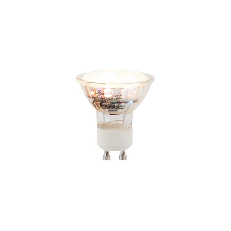 LUEDD Lampadina LED GU10 3W 250LM 2200K