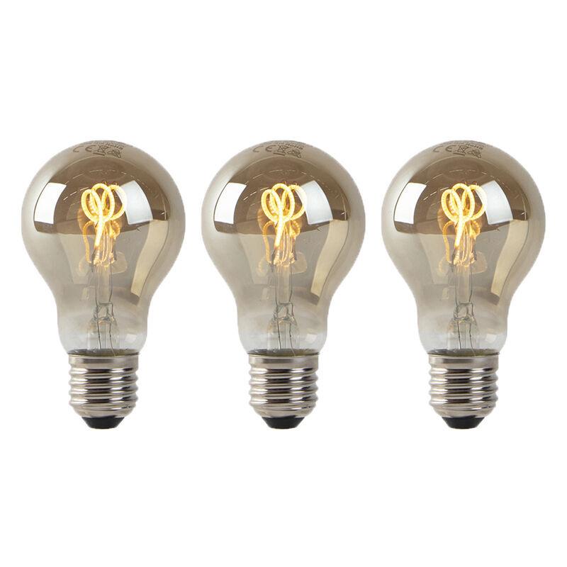 LUEDD Set 3 lampadine E27 LED 80lm 2200K fumo