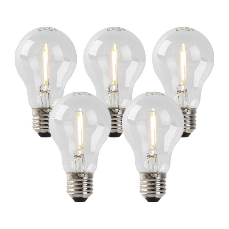 LUEDD Set 5 lampadine LED E27 80lm 2200K dimm