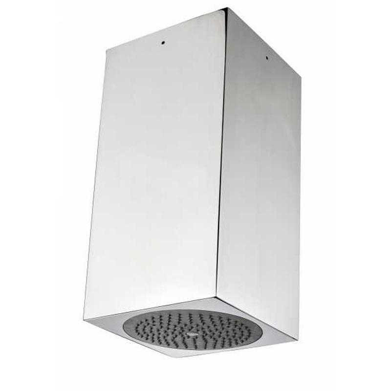 bossini soffione doccia a soffitto acciaio inox cube 154x154 mm - bossini
