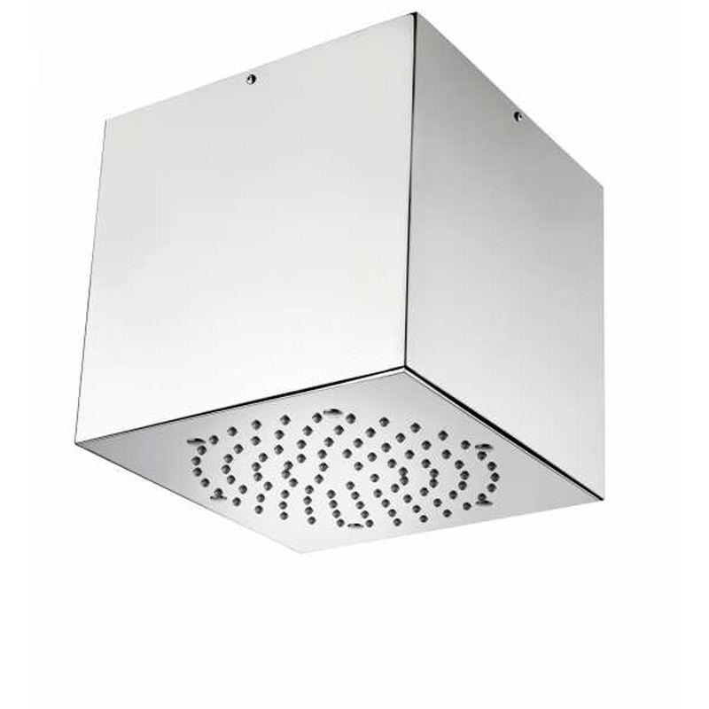 bossini soffione doccia a soffitto acciaio inox cube 210x210 mm - bossini