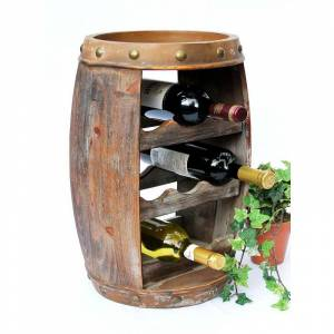 DANDIBO Scaffale-Vino Botte Vini 1555 Bar Porta-Bottiglie 50cm per 8 bottigl. Scaffale Botte Botte-Legno - Dandibo
