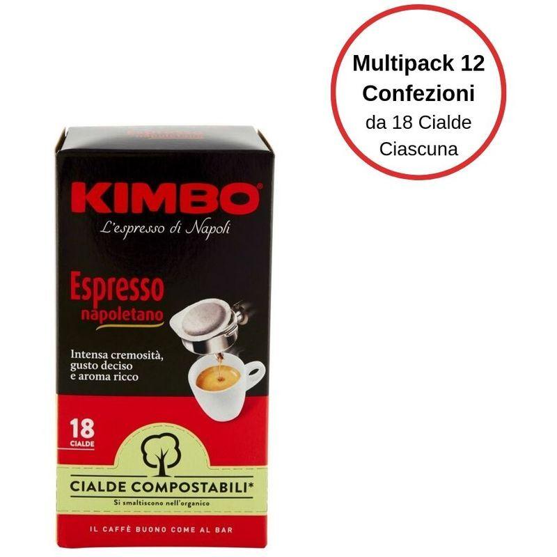KIMBO espresso napoletano caffe' in cialde multipack da 12 confezioni da 18 cialde ciascuna - Kimbo