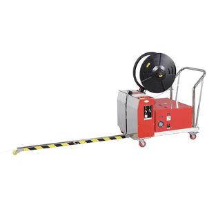 SOCEPI - Reggiatrice semiautomatica per bancali Larg reggia mm 15 Spess reggia mm 0,6 - 0,8 Cicli al minuto 3 Regolazione tensione kg 8 - 70 Misure
