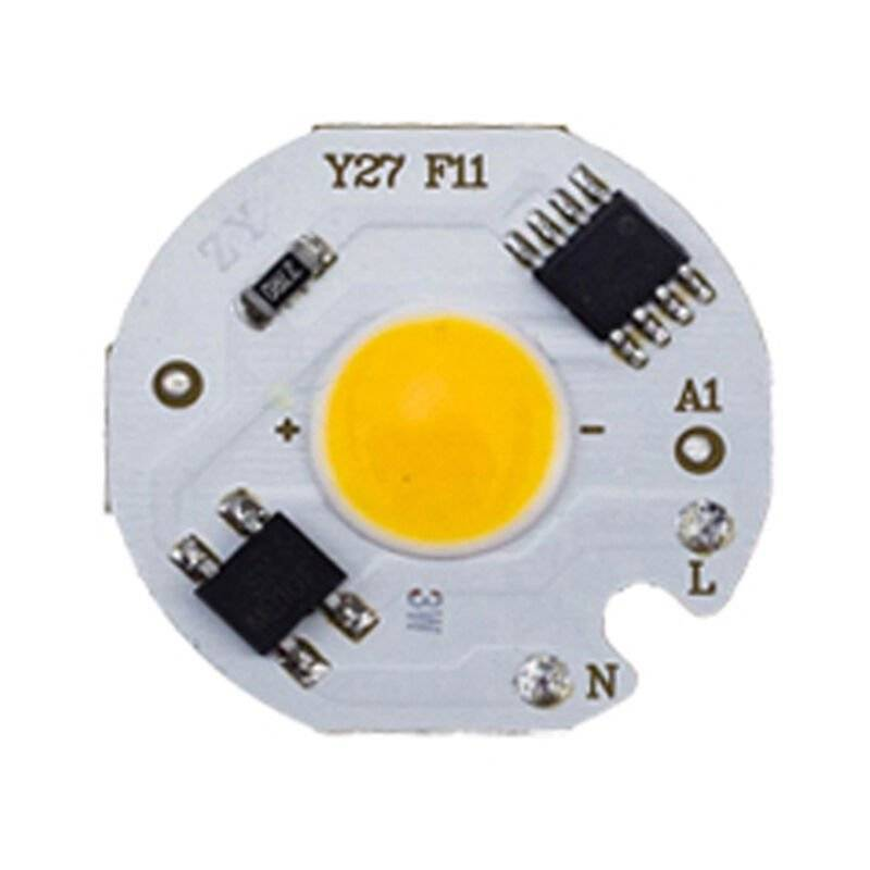 asupermall - chip led cob 220v smart ic senza driver lampadina led 220-240v bianco caldo 5w