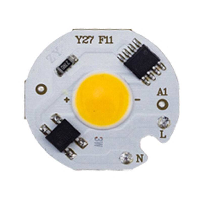 asupermall - chip led cob 220v smart ic senza driver lampadina led 220-240v bianco caldo 7w