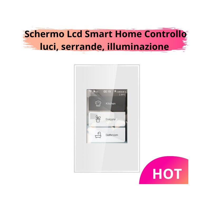 lkm security interruttore smart schermo lcd touch a colori smart home switch 5 modelli in 1 illuminazione interruttore touch luci e dimmer tapparelle e serrande