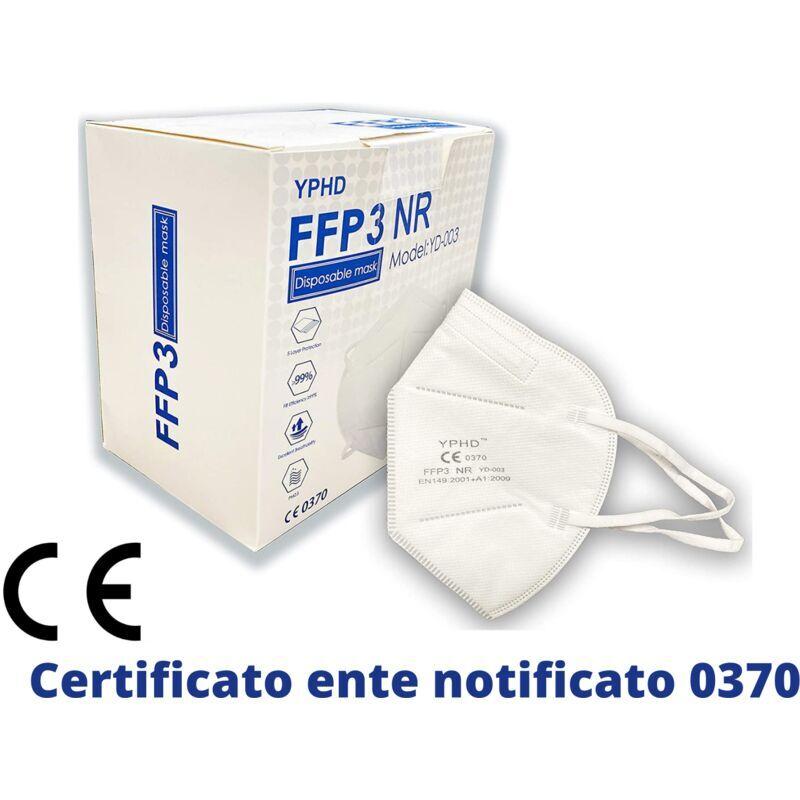 YPHD Mascherina FFP3 Certificata CE EN 149 Mascherina 5 Strati Senza Valvola (Sconti per quantità maggiori) Maschera Facciale Protezione da Polvere Face