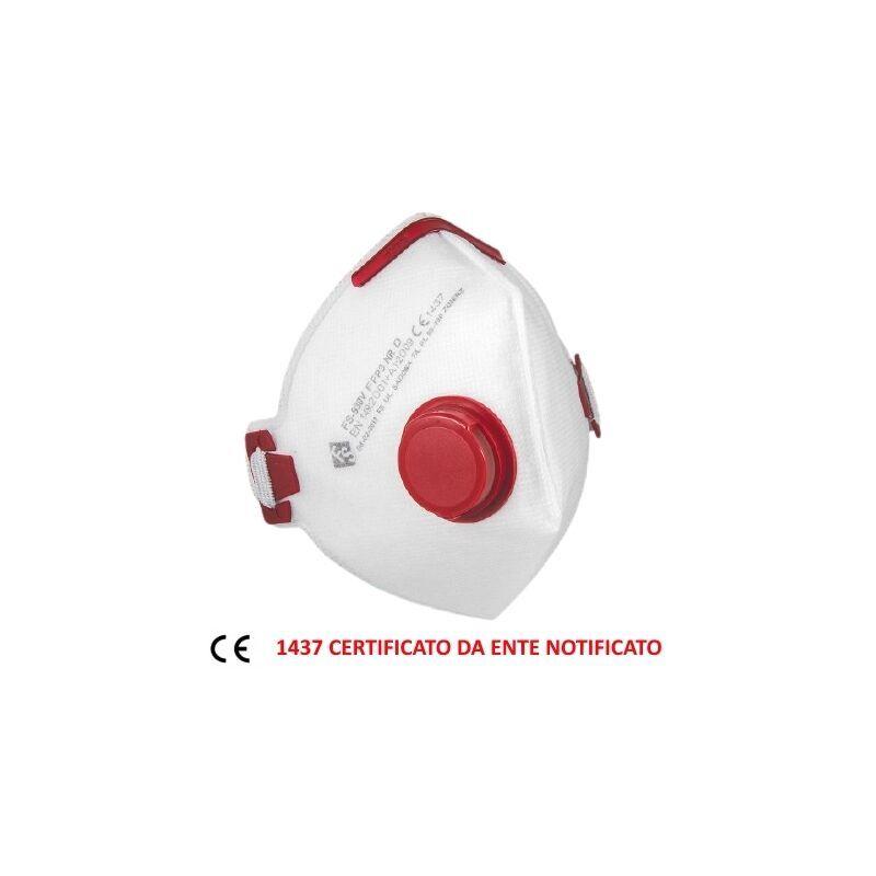Lkm Security - Mascherina FFP3 NR con valvola D Certificata CE ente 1437 EN 149:2001 +A1:2009 - Blu