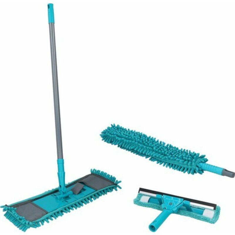edco italia - set pulizia casa con accessori per spolverare lucidare pulire pavimento