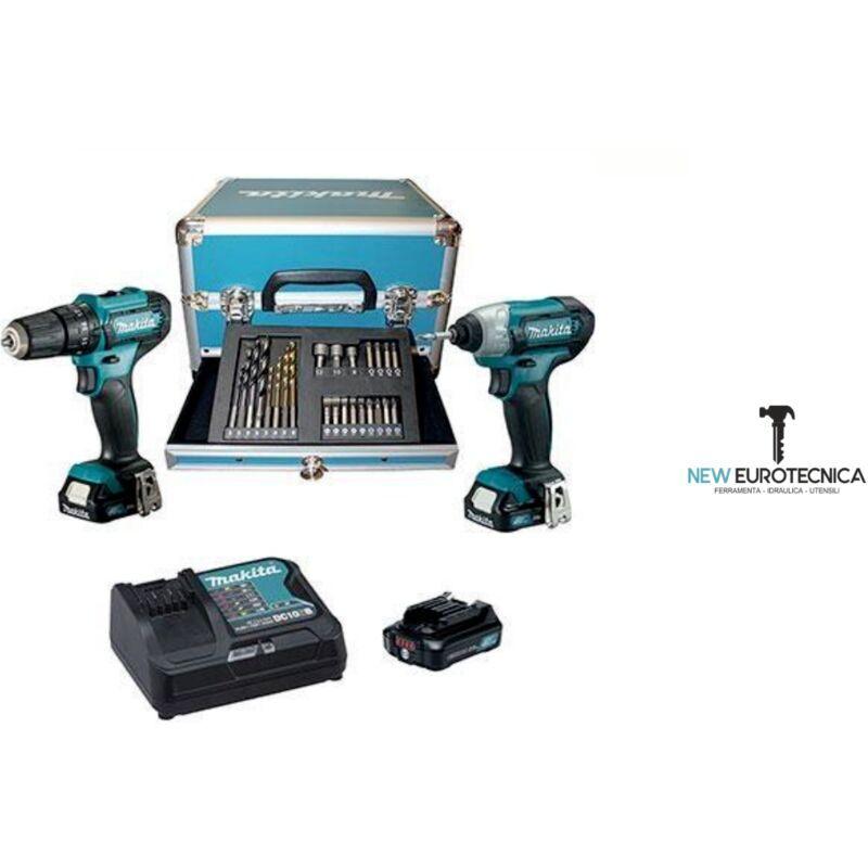 Makita Trapano avvitatore a batteria kit hp333d +td110d volt 12x3 ah 2 +valig - Makita