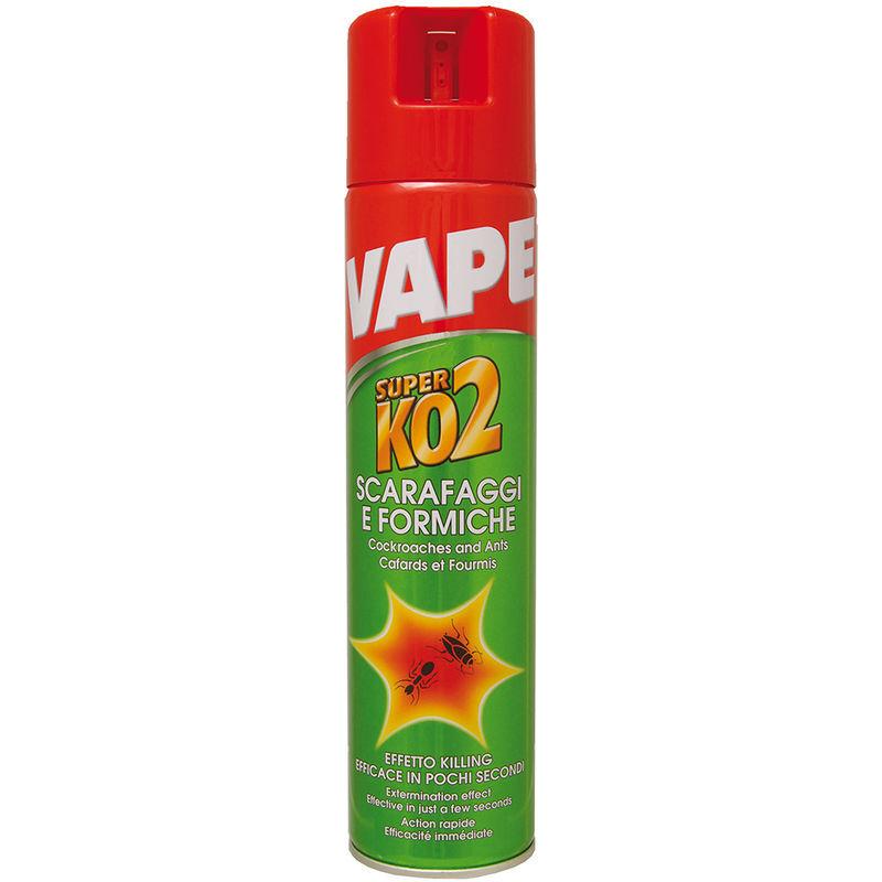 vaper spray per formiche e scarafaggi super ko2 400ml