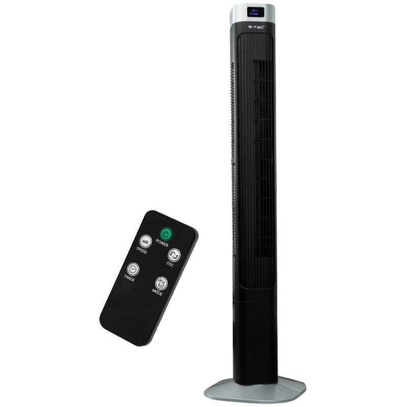 etc-shop - colonne a torre ventilatore telecomando supporto per timer torre oscillante ventilatore ventilatore display a led