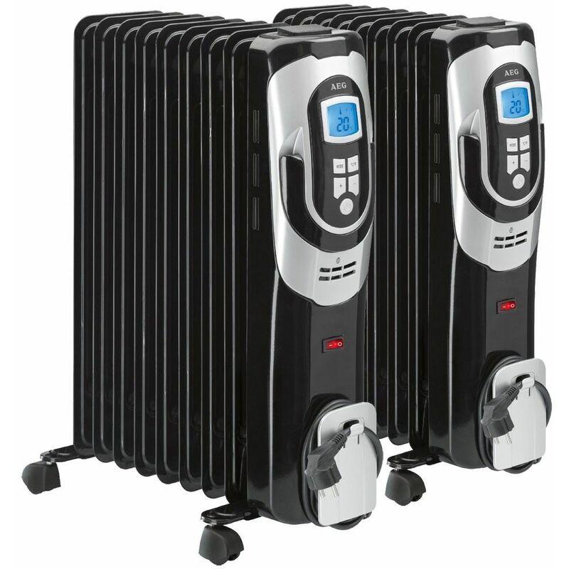 etc-shop set di 2 radiatore dispositivo mobile corpo scaldante riscaldamento elettronicamente più caldo - etc-shop