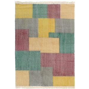 VIDAXL Tappeto Kilim Tessuto a Mano in Cotone 120x180 cm Multicolore - VIDAXL