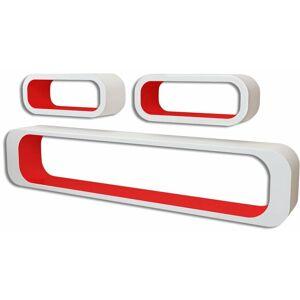 vidaXL Mensole a Cubo da Parete 6 pz Rosso e Bianco - Rosso