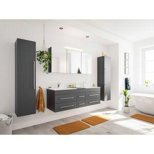 Emotion Set da bagno Roma XL 4 parti incl. armadio a specchio in antracite satinato